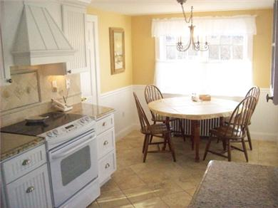 Hyannis Port Cape Cod vacation rental - Pretty granite & seashore kitchen- a delight to cook & chat in