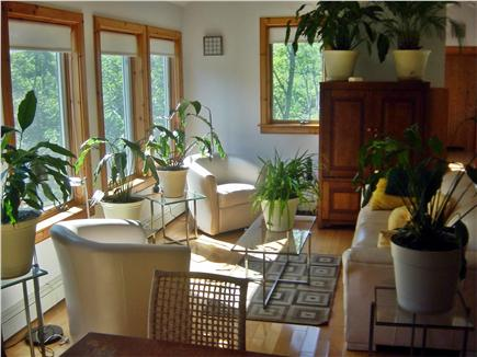 Wellfleet Cape Cod vacation rental - Living Area - light-filled, airy, leather seating