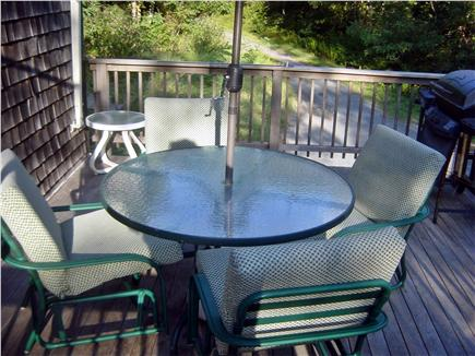 Wellfleet Cape Cod vacation rental - Deck seating