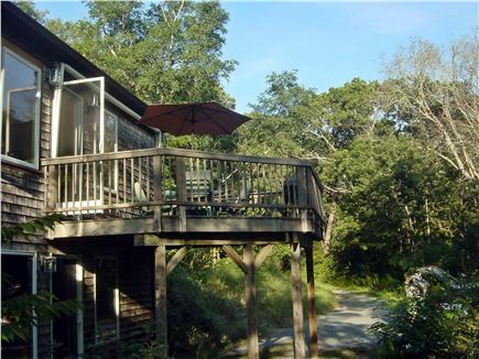Wellfleet Cape Cod vacation rental - Deck facing East
