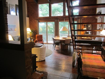 Brewster, Blueberry Pond Cape Cod vacation rental - ...dining/living area...