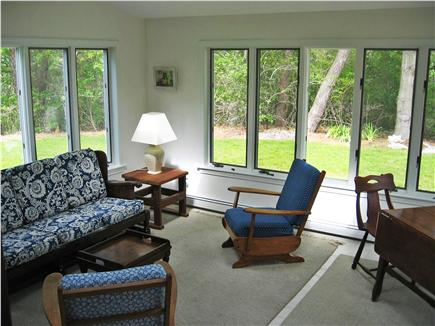 North Chatham Cape Cod vacation rental - Screened-in Porch (seating and dining areas)