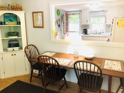 Brewster Cape Cod vacation rental - Enjoy meals at the expandable table with seating for six.