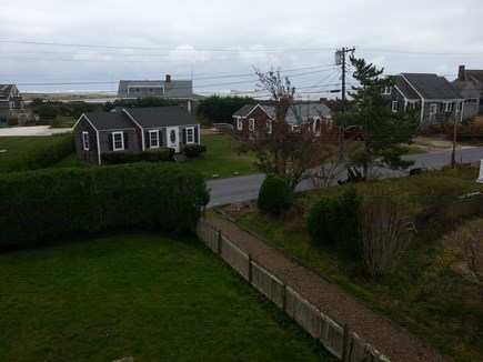 Chatham Cape Cod vacation rental - View from 2nd story looking across front yard to ocean beyond.