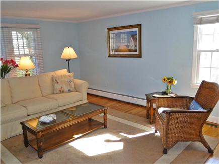 Chatham Cape Cod vacation rental - Living room – sunny with fireplace