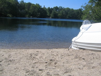 Falmouth (Pinecrest Beach) Cape Cod vacation rental - Swimming (Jenkins Pond) is located 100 Steps away across street.