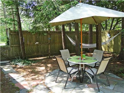 East Orleans Cape Cod vacation rental - Patio with hammock, outdoor shower, dining