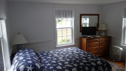 South Harwich, Red River Beach Cape Cod vacation rental - Master Bedroom, Queen  with 1/2 Bath and TV