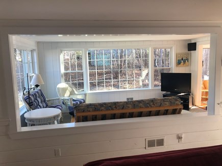 South Harwich, Red River Beach Cape Cod vacation rental - Bright and Sunny Family Room with TV