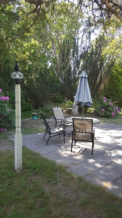 Harwichport Cape Cod vacation rental - Bluestone patio and enclosed yard