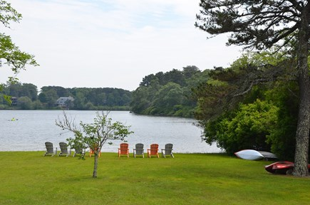 Eastham Cape Cod vacation rental - Yard leading to Depot Pond