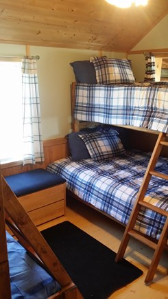 Plymouth, White Horse Beach MA vacation rental - Two sets of double bunkbeds. Great for kids,with TV & ceiling fan