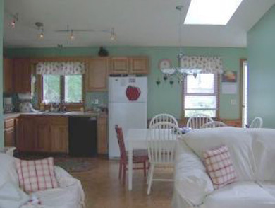 Falmouth, New Silver Beach Cape Cod vacation rental - open layout: living area, dining, and kitchen
