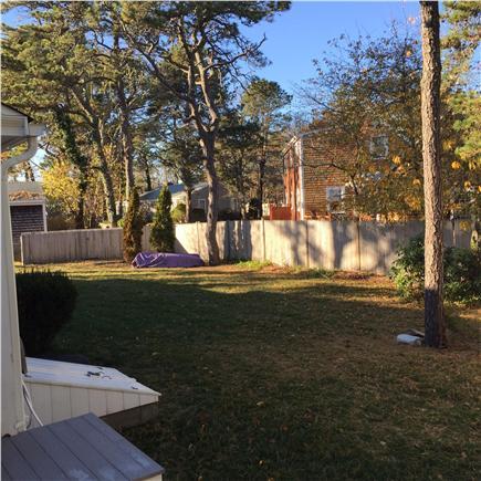West Harwich Cape Cod vacation rental - Fenced in backyard