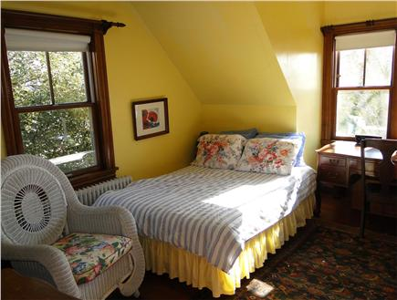 Woods Hole Woods Hole vacation rental - Bedroom with double bed and single bed looking onto Eel pond