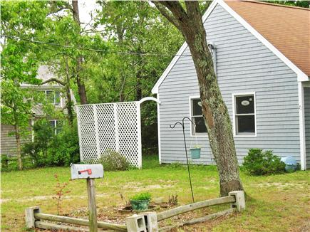 Mashpee Cape Cod vacation rental - Front Yard With Deck Behind Privacy Screen