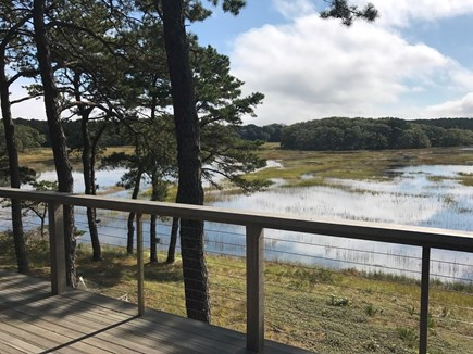 Wellfleet Cape Cod vacation rental - Looking out over the marsh during a high tide.