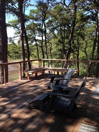 Wellfleet Cape Cod vacation rental - Deck seating area.