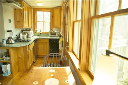 Wellfleet Cape Cod vacation rental - Kitchen, arts & crafts counter top, set up for light cooking
