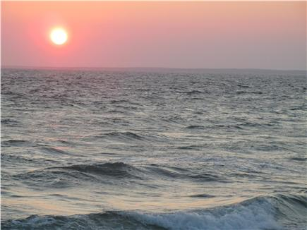 N. Falmouth Cape Cod vacation rental - Sunset on the beach