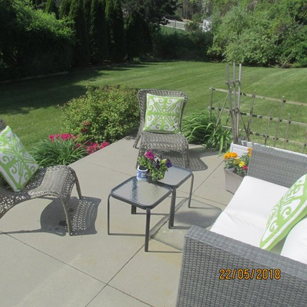 N. Falmouth Cape Cod vacation rental - Backyard patio