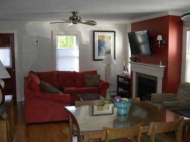 Provincetown Cape Cod vacation rental - Spacious Living Room w/Fireplace