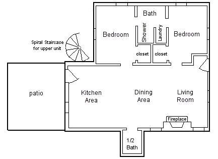 Provincetown Cape Cod vacation rental - Overall Layout