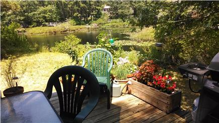 South Wellfleet Cape Cod vacation rental - View of pond from rear deck