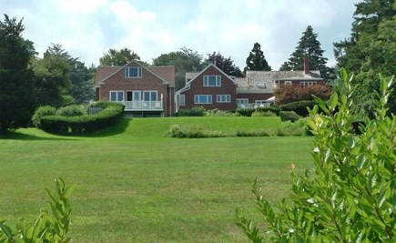 Plymouth MA vacation rental - View of back yard and home taken from water