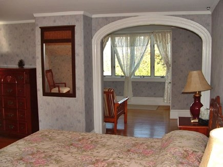 Plymouth MA vacation rental - Upstairs master bedroom has a king bed and a futon