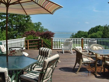 Plymouth MA vacation rental - View of deck from one of the living rooms