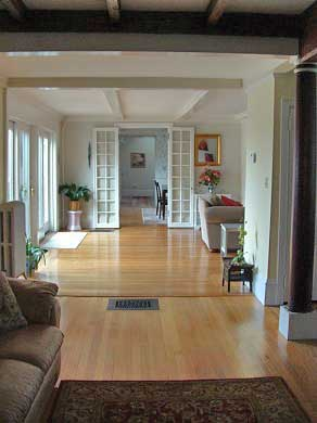 Plymouth MA vacation rental - Open interior hallway from living room to dining room