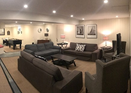 Truro Cape Cod vacation rental - Lower level playroom with large screen TV
