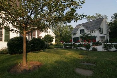 Truro Cape Cod vacation rental - Carriage house joins the courtyard intimate feel