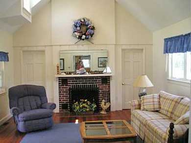 Yarmouth Cape Cod vacation rental - Bright, open, spacious living area with tv, vcr, and dvd
