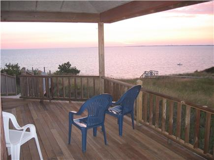 Truro Cape Cod vacation rental - Sunset from the covered deck