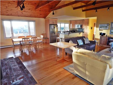 Truro Cape Cod vacation rental - Living room, DR, kitchen - morning light