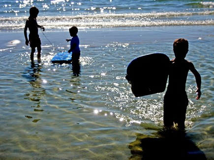 Falmouth Cape Cod vacation rental - Old Silver Beach: clear, sun-warmed pools at low tide