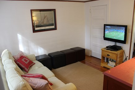 Falmouth, Old Silver Beach Cape Cod vacation rental - Comfy Den with HDTV and footstools