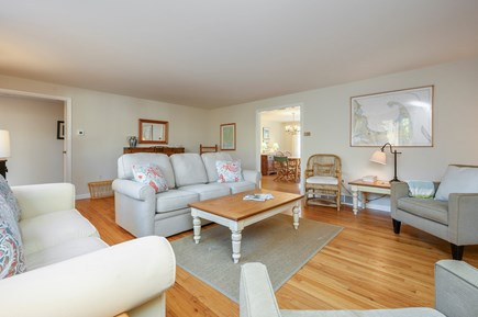 Brewster Cape Cod vacation rental - Great Room, Dining Room at Right