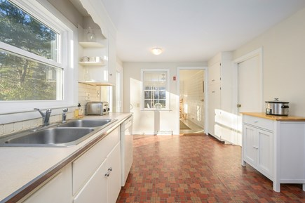 Brewster Cape Cod vacation rental - Kitchen, Breakfast/Sunroom beyond