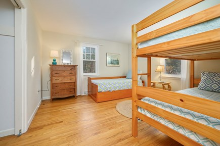Brewster Cape Cod vacation rental - Bedroom 3 - (sleeps 4, with bunk beds and trundle bed)