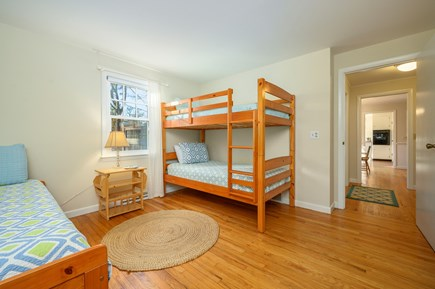 Brewster Cape Cod vacation rental - Bedroom 3 - with bunk beds and trundle bed
