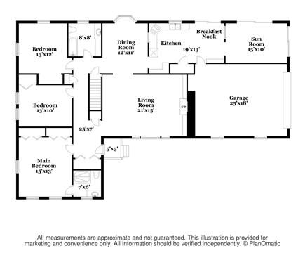 Brewster Cape Cod vacation rental - Main Level Floor Plan