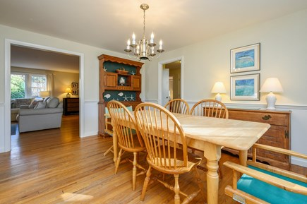 Brewster Cape Cod vacation rental - Dining Room, Great Room at Left