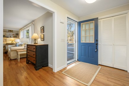 Brewster Cape Cod vacation rental - Front Entry, Great Room at left