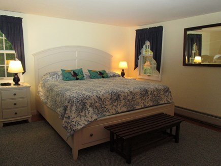South Chatham Cape Cod vacation rental - Master Bedroom, 1st floor--with private bath-- tub/shower
