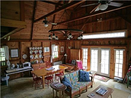 Chatham Cape Cod vacation rental - Entrance into open living room with beautiful French doors