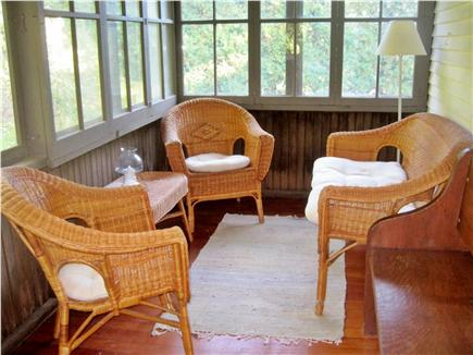 West Brewster Cape Cod vacation rental - Relax with coffee and the newspaper on the screened porch...