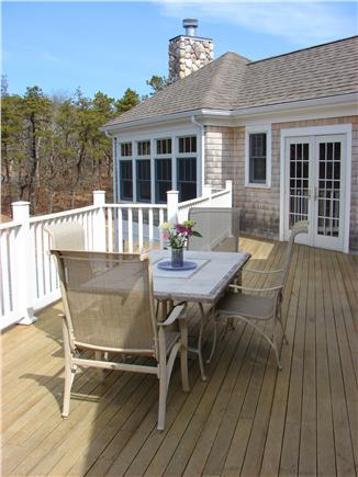 Truro Cape Cod vacation rental - Relax, dine together on the large deck overlooking private yard